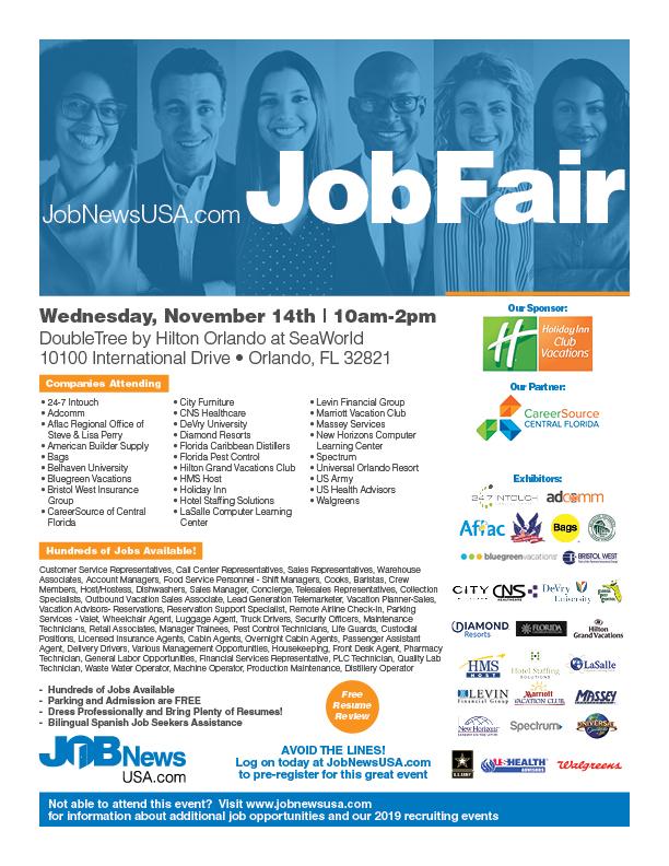 November 14th - Orlando Job Fair