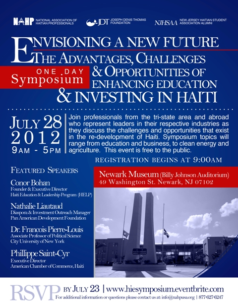 Haiti Investment & Education - One Day Symposium