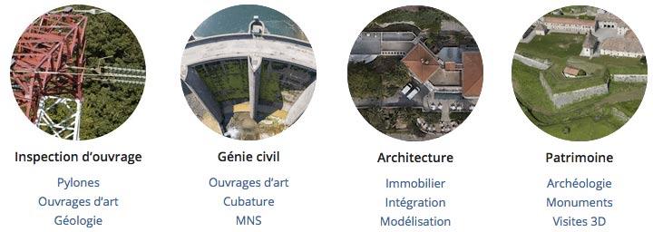 les applications techniques des drones dans l'industrie, l'architecture et le BTP