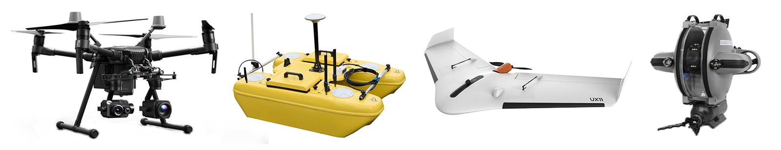 salon escadrone drone professionnel dji matrice 210 rtk, delair ux11, Deep-trekker DTG3, bathydrone