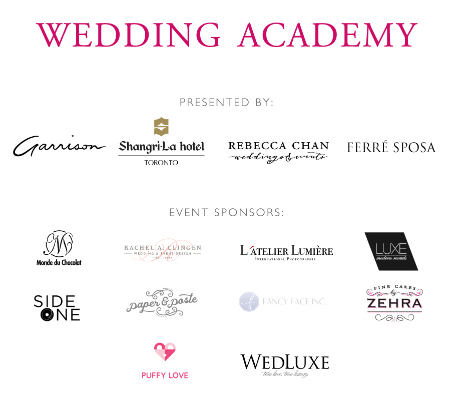 Wedding Academy sponsors