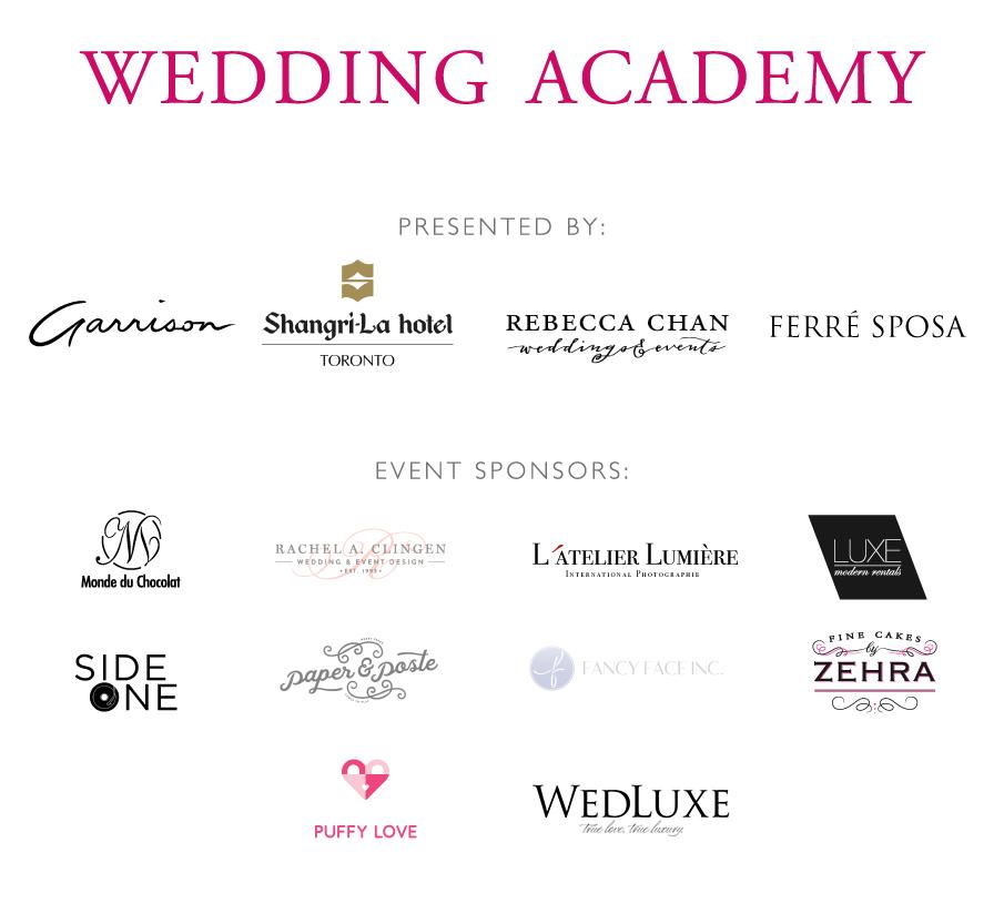 Wedding Academy sponsors