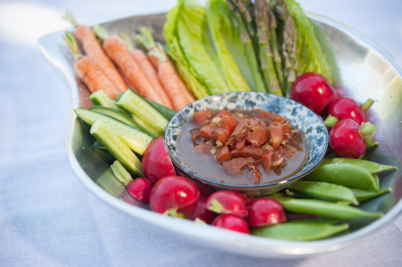 Vegetable Crudites with Shrimp Paste Salsa