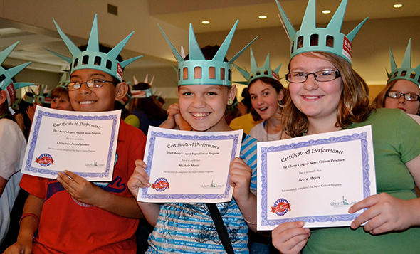 Students get Super Citizen Certificates