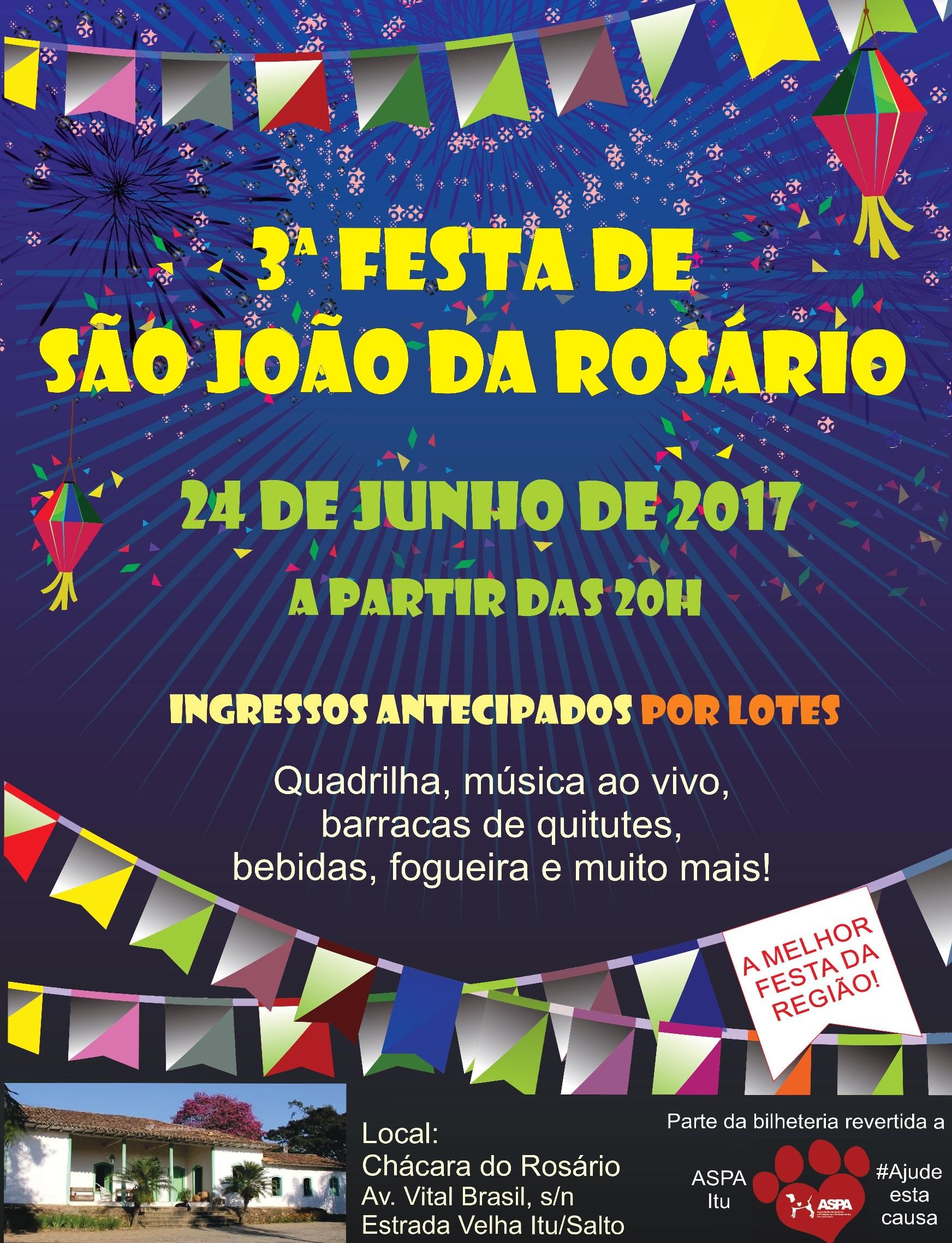 3ª Festa de São João da Rosário Itu