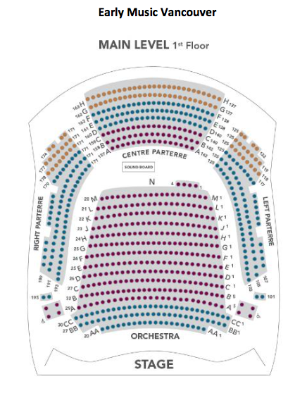 The Chan Centre Seating