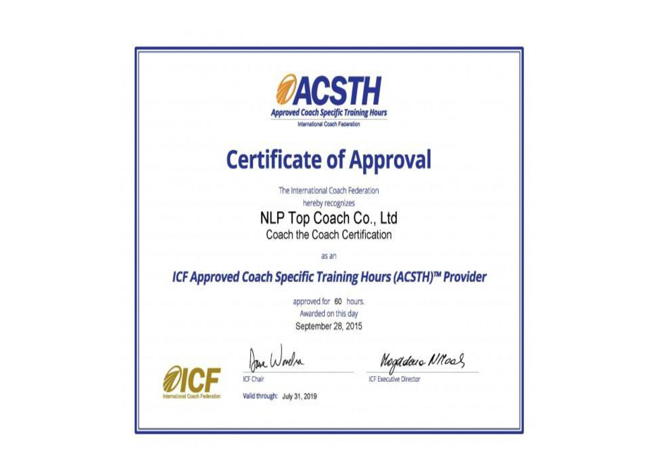 Icf approved coach the coach certification course tickets sat acc certified coach with more than 10 years of coaching experience xflitez Choice Image