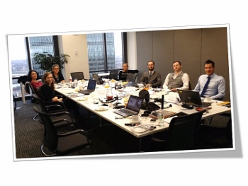 In-house workshop in Canary Wharf