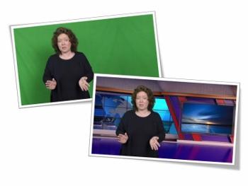 Green screen and presentation technique