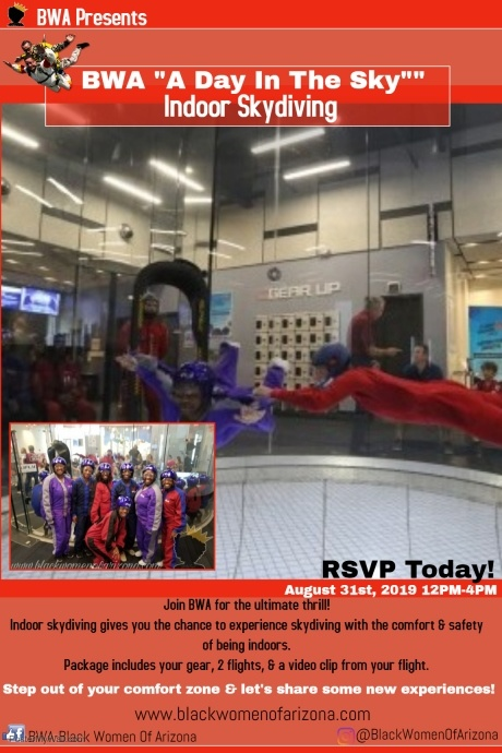 BWA Indoor Skydiving August 2019