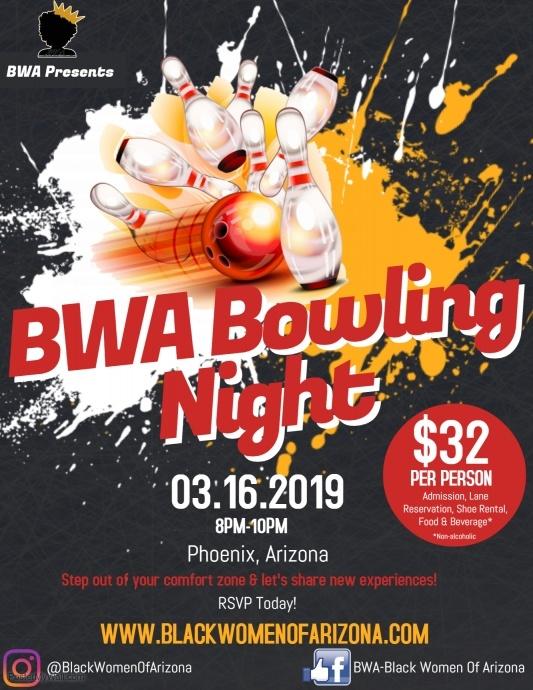 BWA Bowling Night March 2019
