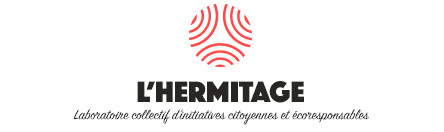 logo l'hermitage, laboratoire collectif d'initiatives citoyennes et écoresponsables