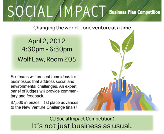 Social Business Plan Competition Now Open