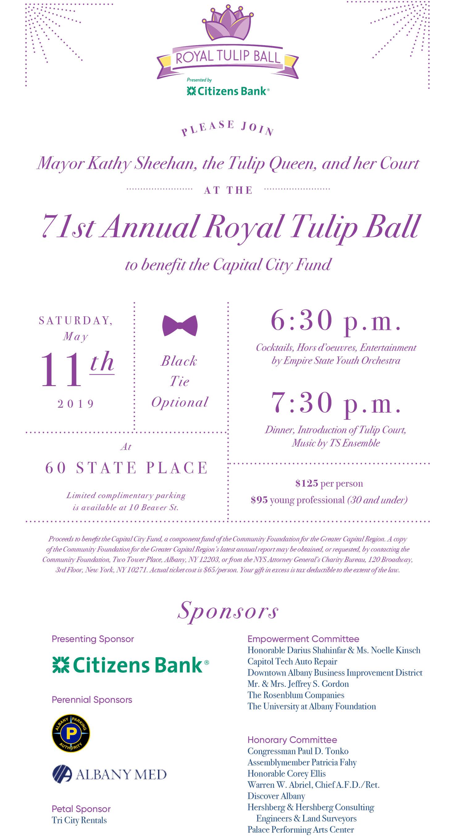 Tulip Ball Invitation