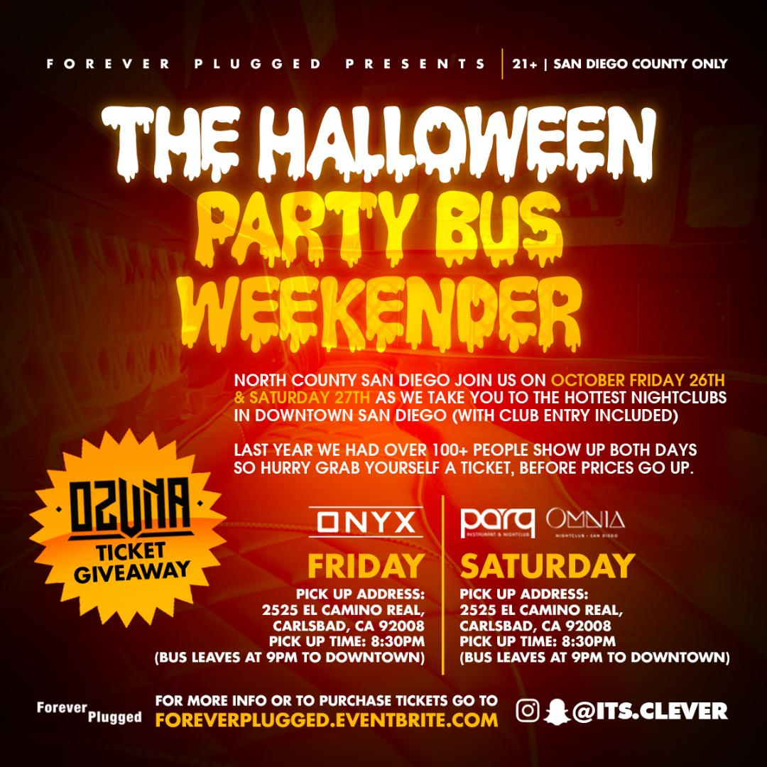 north county sd halloween party bus(saturday) tickets, sat, oct 27
