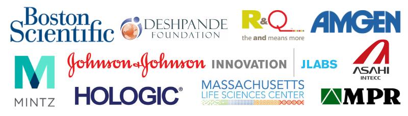 2019 200k sponsors - boston scientific, deshpande foundation, mintz, johnson & johnson, r&q, Amgen, Asahi Intecc, MPR Product Development, MLSC, and Hologic.