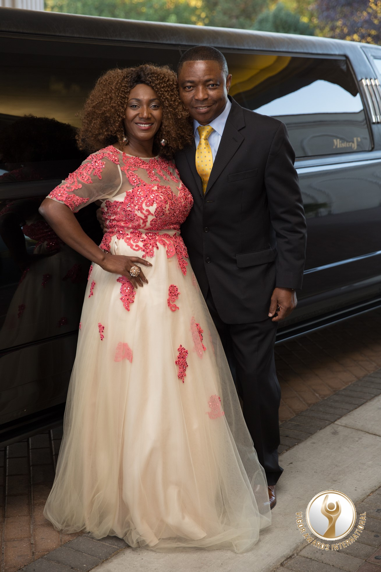 Queen Amina, President of Vigor Awards, with her husband, Victor
