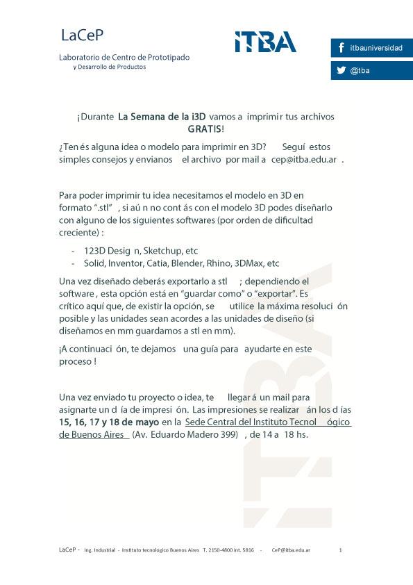 Especificaciones de archivos para imprimir