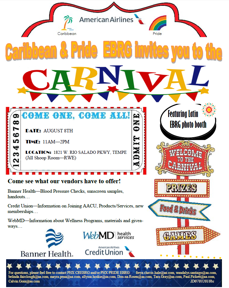 caribbean pride ebrg is hosting a carnival 8 aug 2018