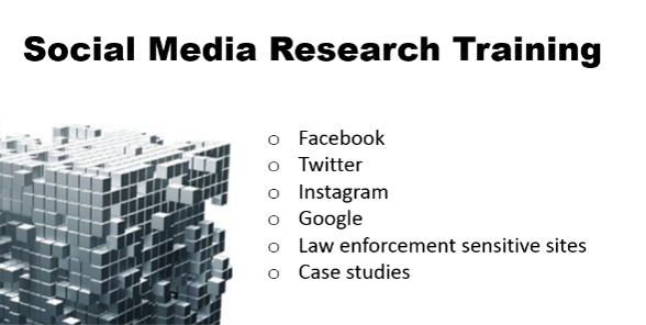 Learn how to research Facebook, Twitter, Instagram, Google, and more