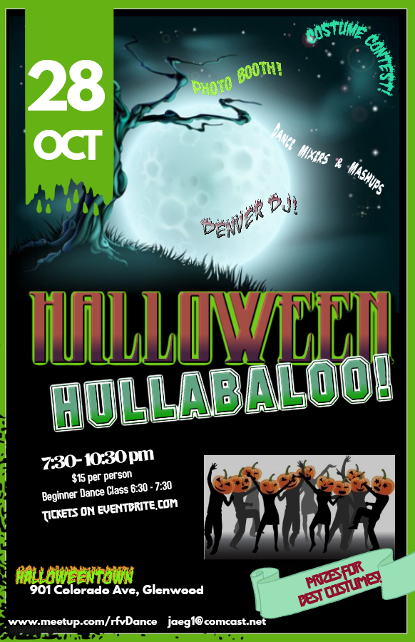 Halloween Hullabaloo Flyer with details