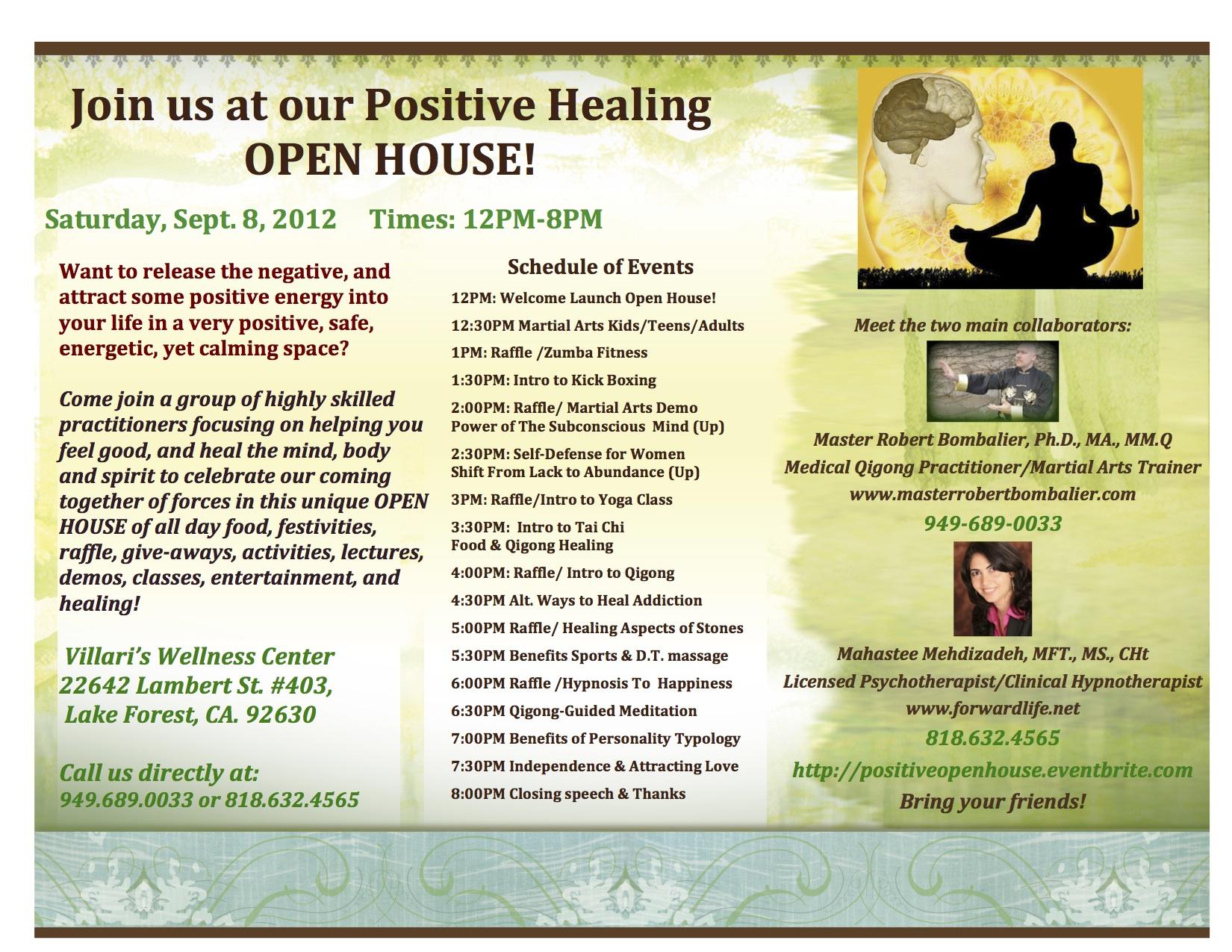 Positive Healing Open House