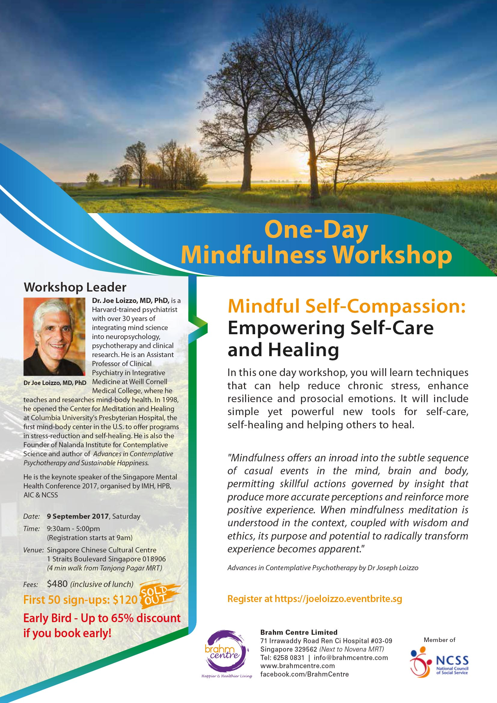 One Day Mindfulness Self-Compassion Workshop