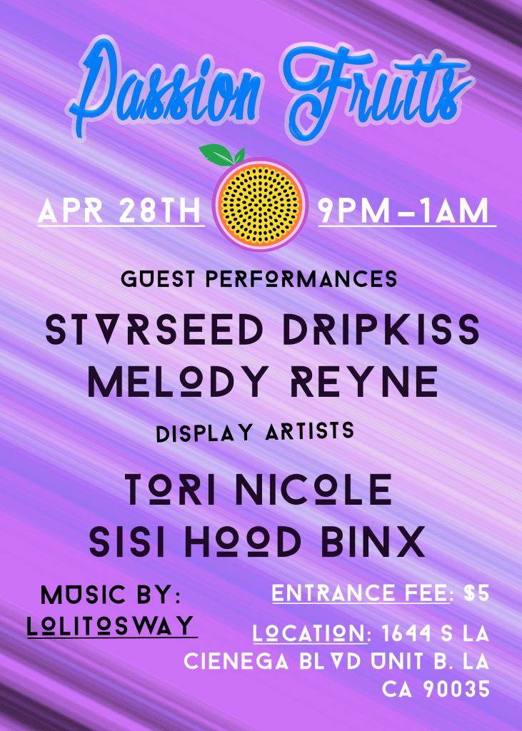 Flyer w/ List of Visual + Performing Artist