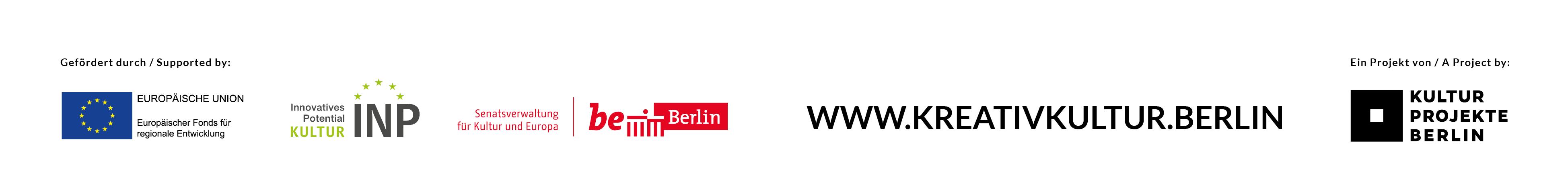 Förderlogos Kreativ Kultur Berlin