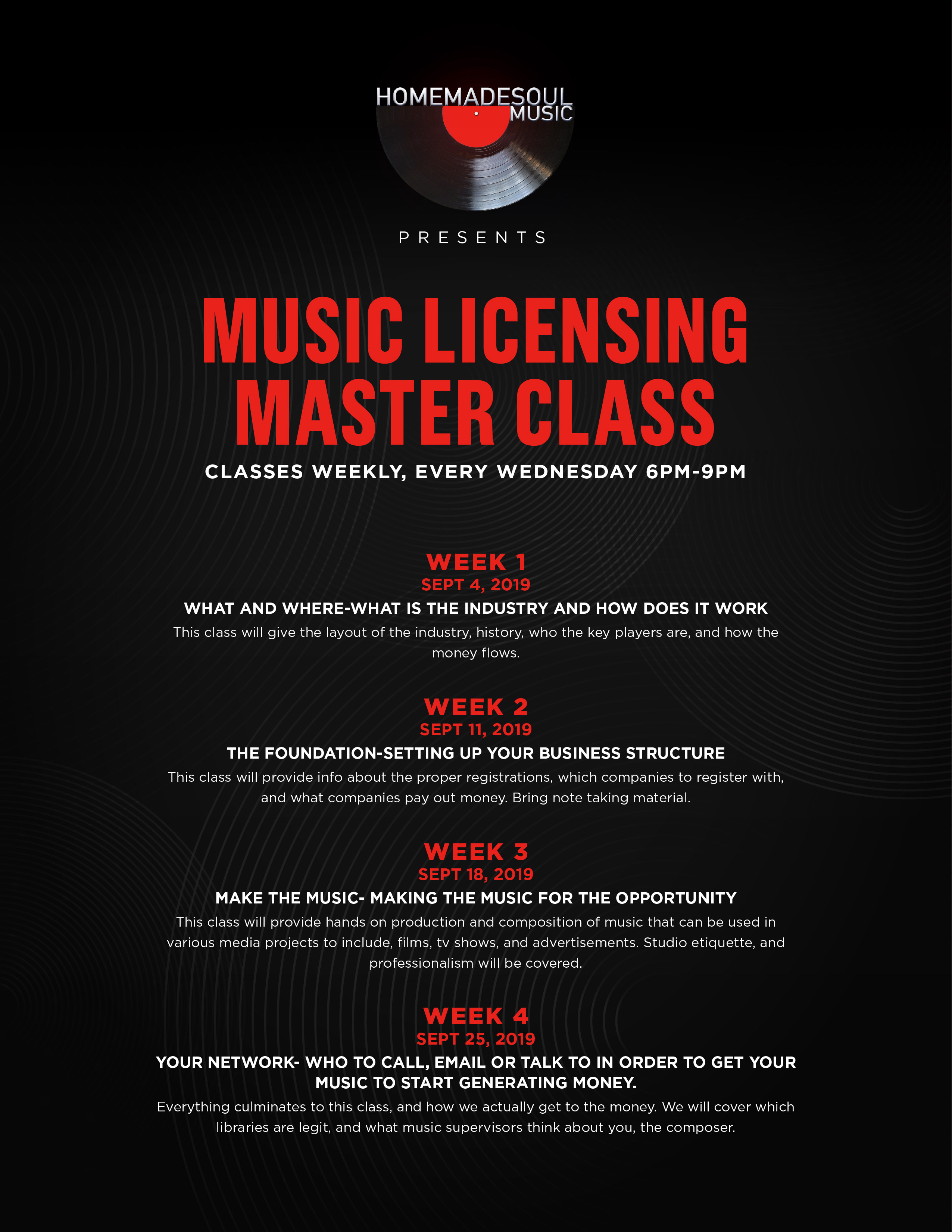 Homemadesoul Music's Music Licensing Master Class