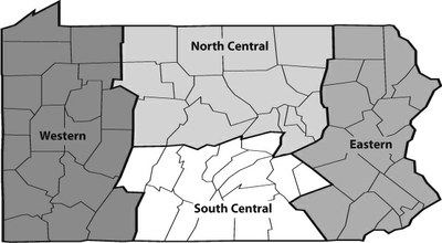 PASA regions map