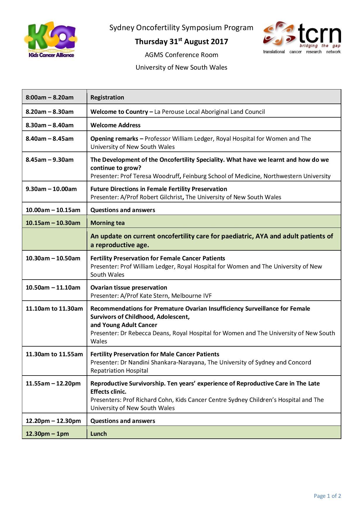 page 1 Oncofertility Symposium program jpeg