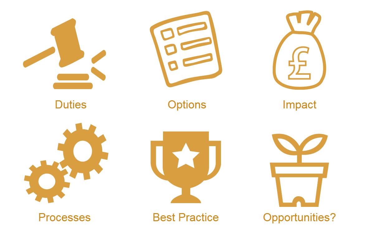 Duties, Options, Impact, Processes, Best Practice, Opportunities