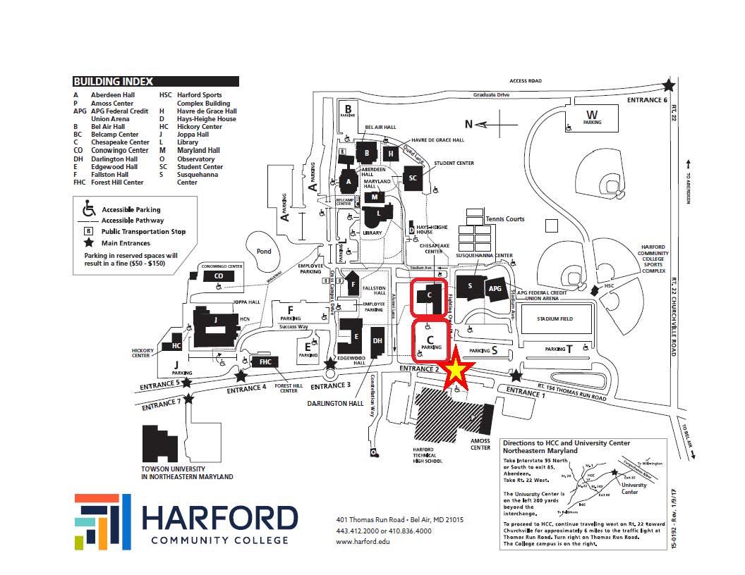 HCC Chesapeake Parking Map