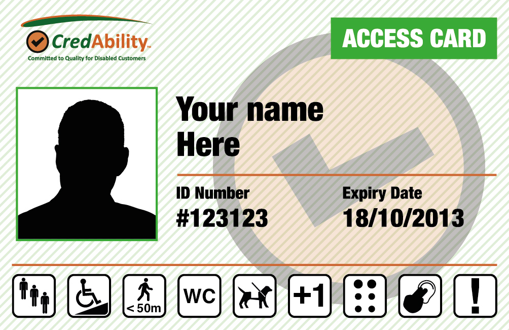 an image of the access card