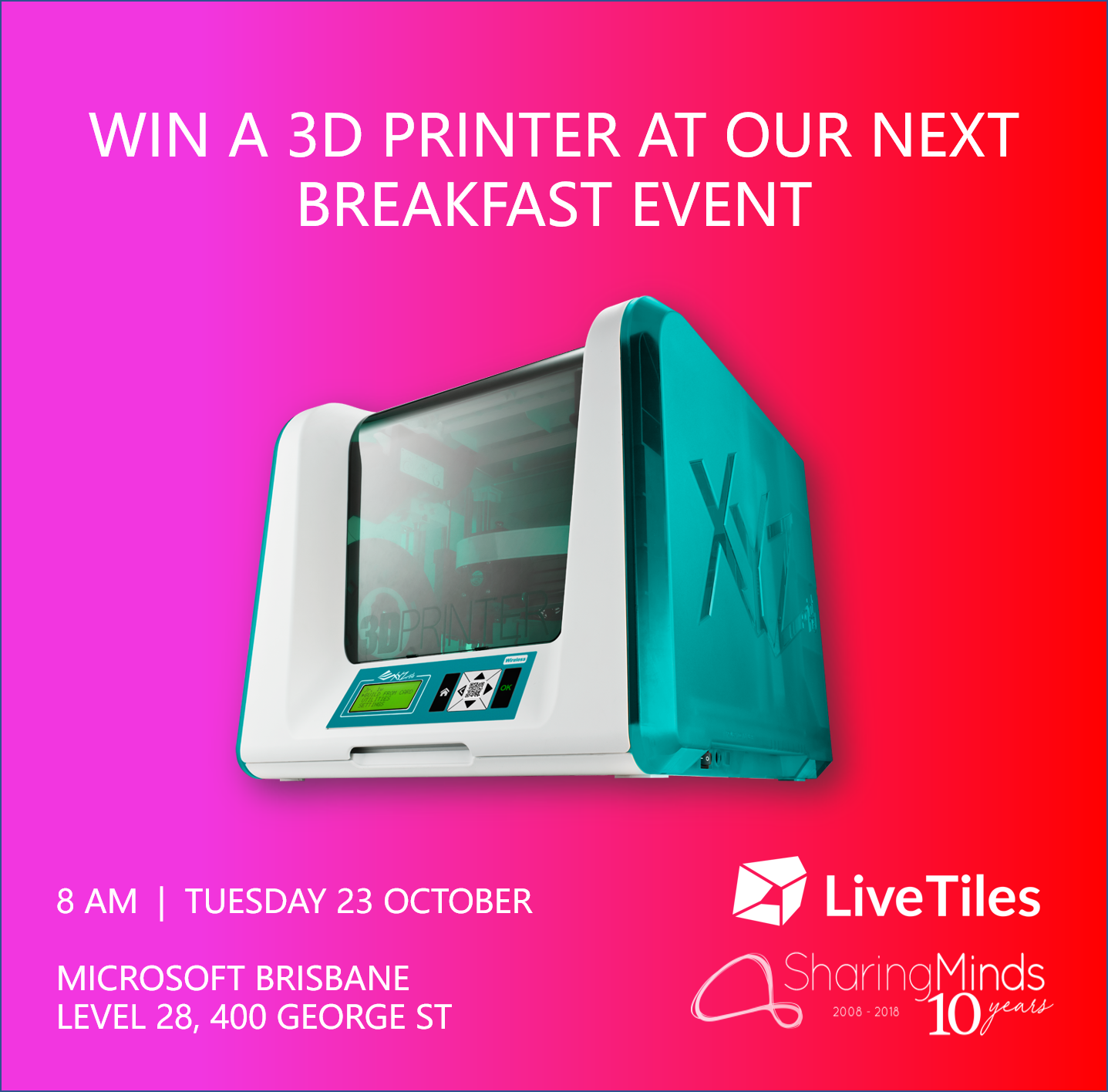 Giveaway 3D Printer - LiveTiles Sharing Minds