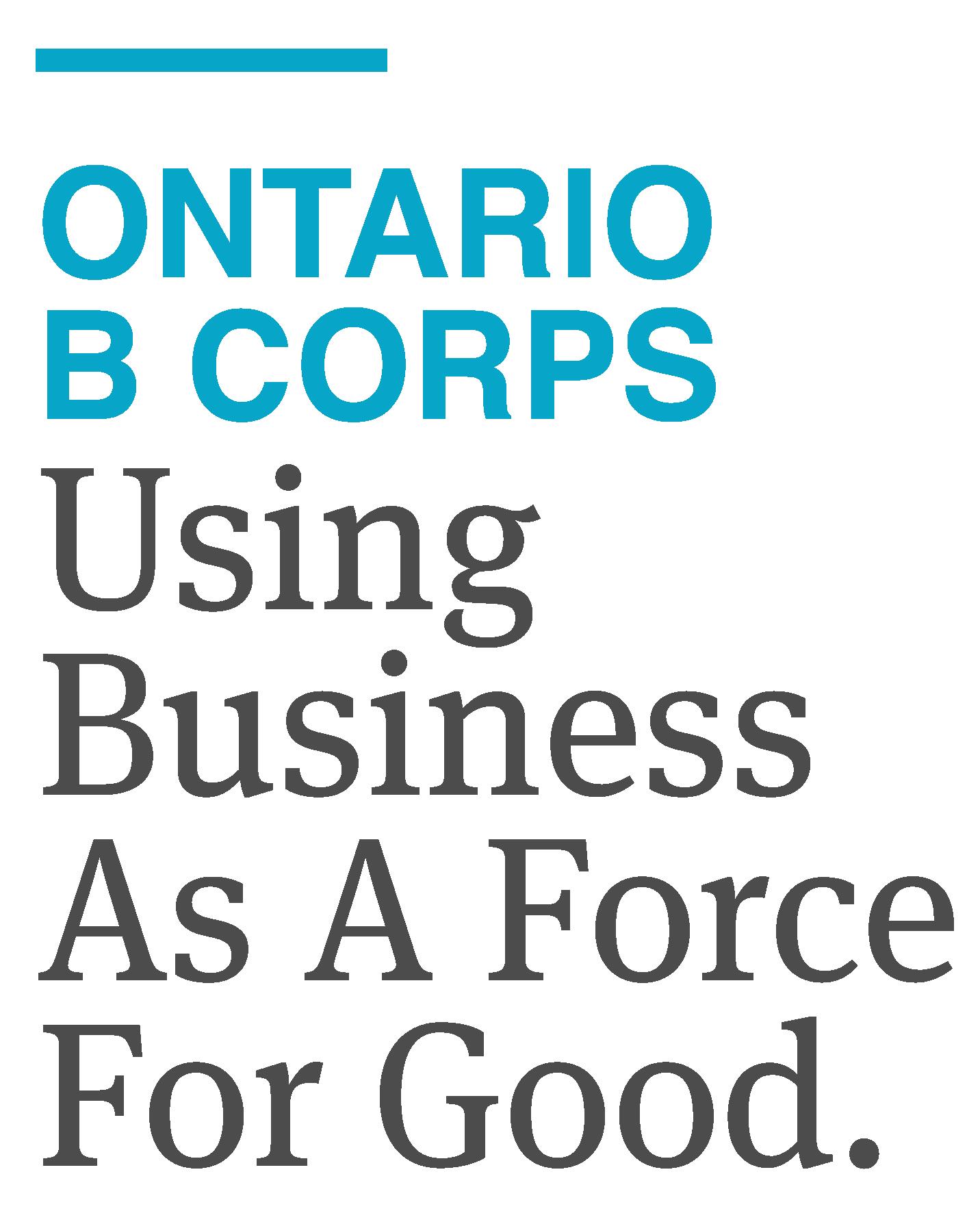 Ontario B Corps logo