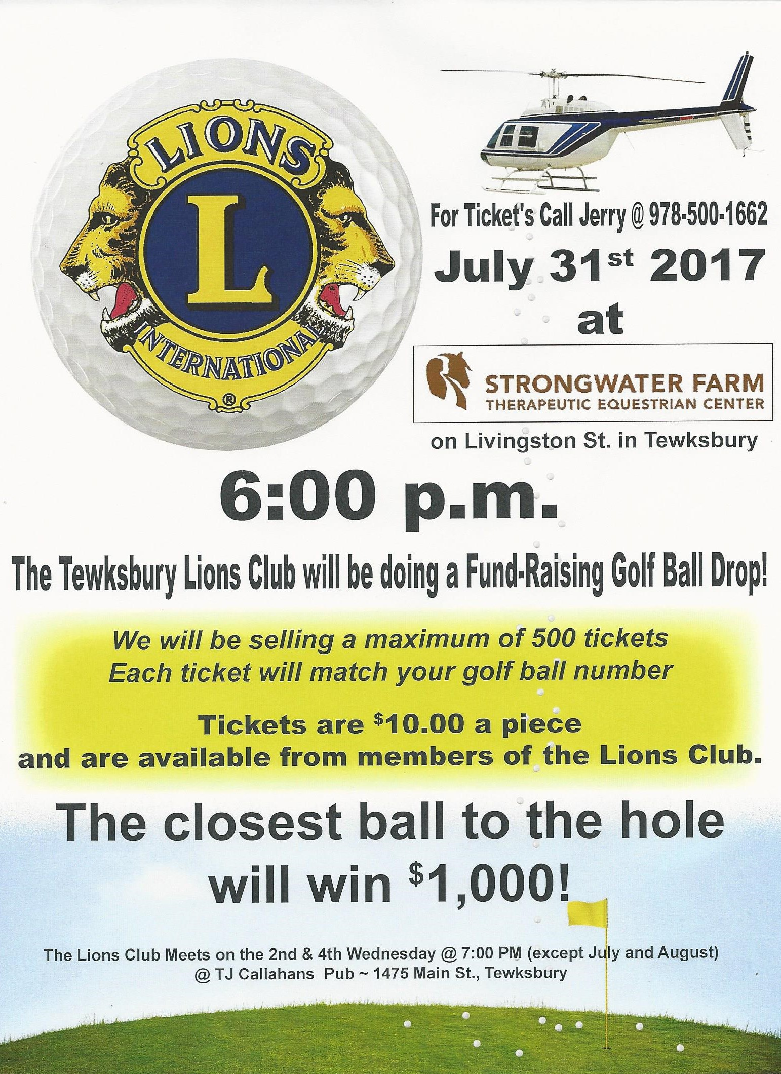 Tewksbury Lions Ball Drop