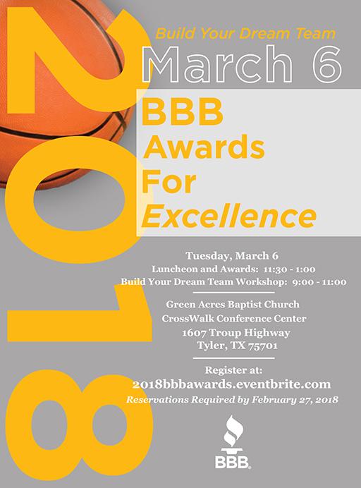 BBB Awards Invitation