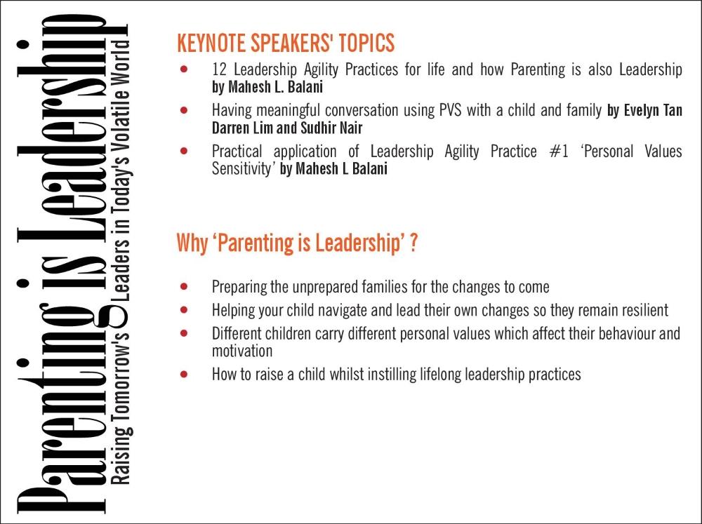 Parenting is Leadership Seminar