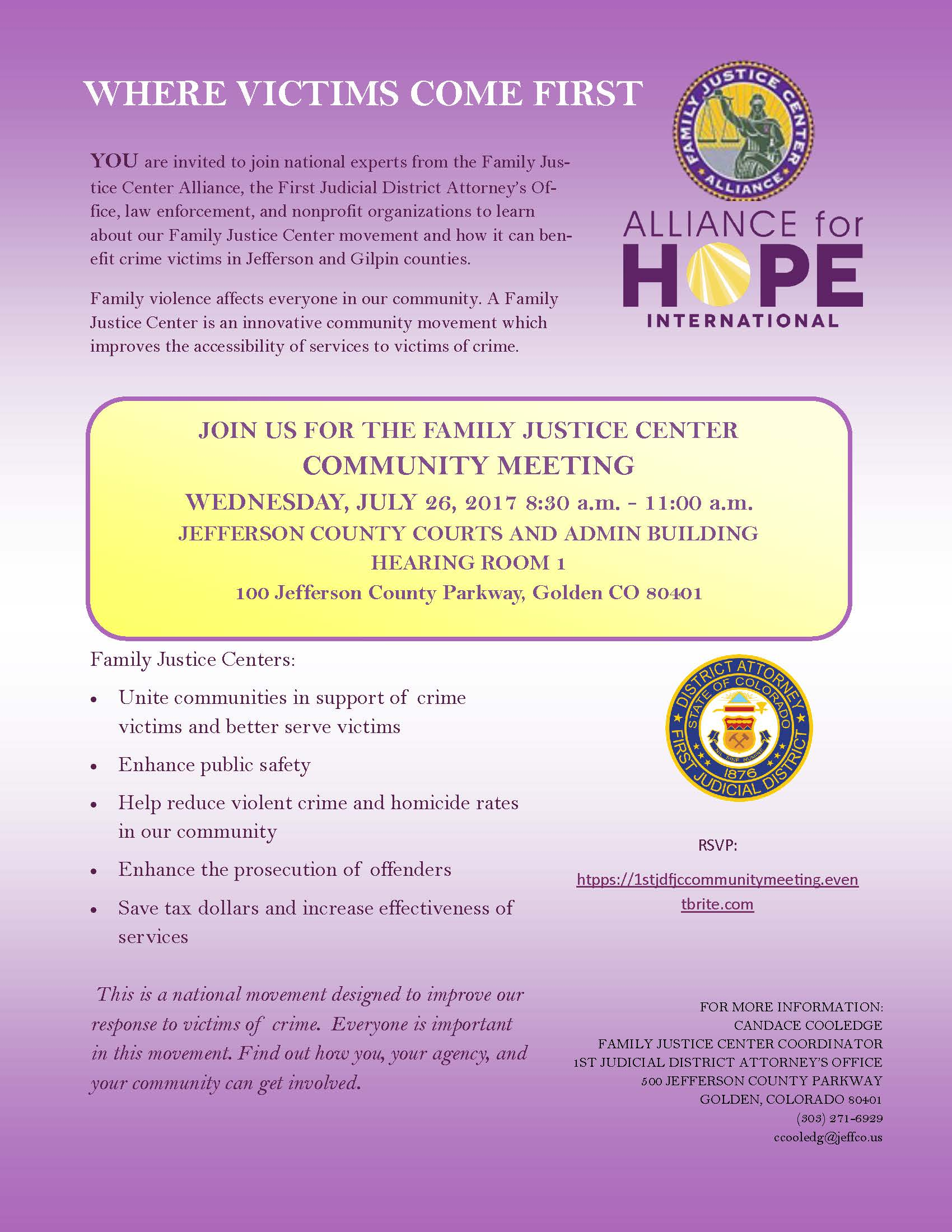 Community Meeting Invitation Flyer