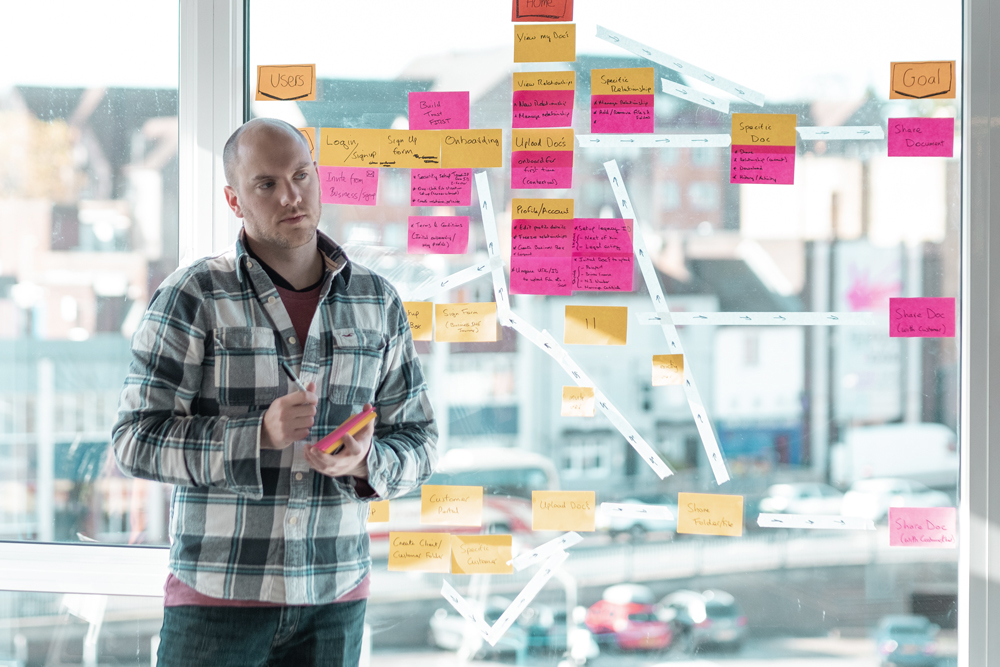Our UX Producer Will is a key part of every design sprint.