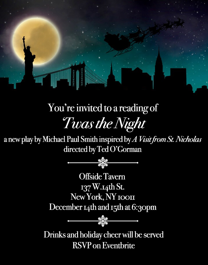 'Twas the night invitation