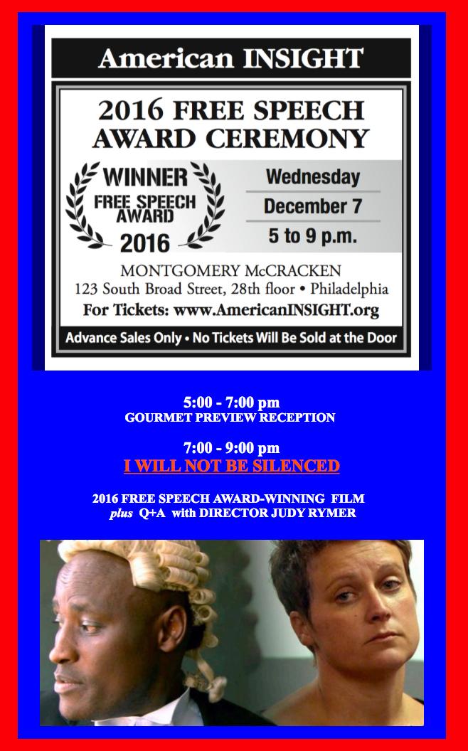 Free Speech Award Ceremony
