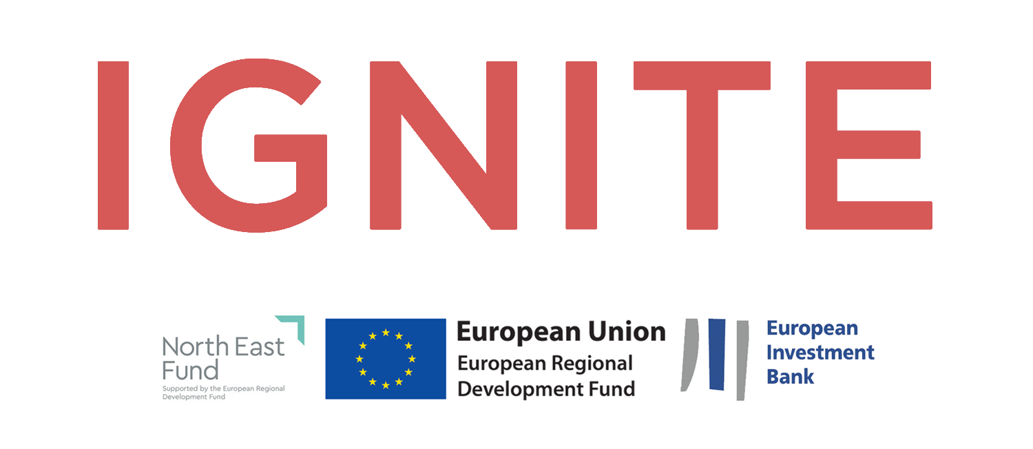 Ignite and investment logos