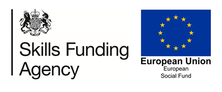 Skiills funding agency and European logo