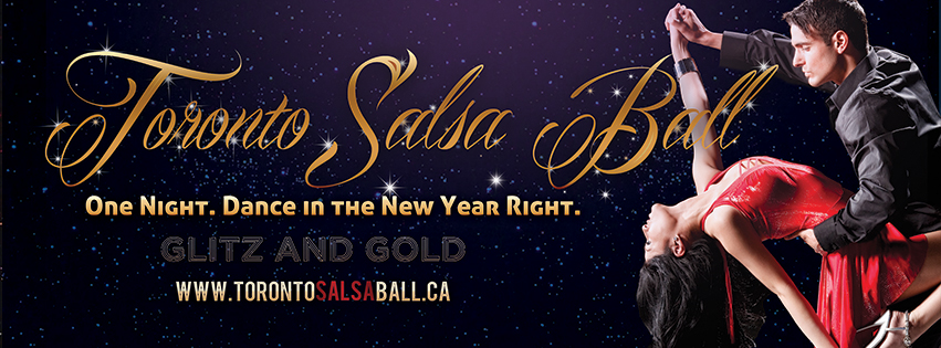 Toronto Salsa Ball with couple dancing salsa