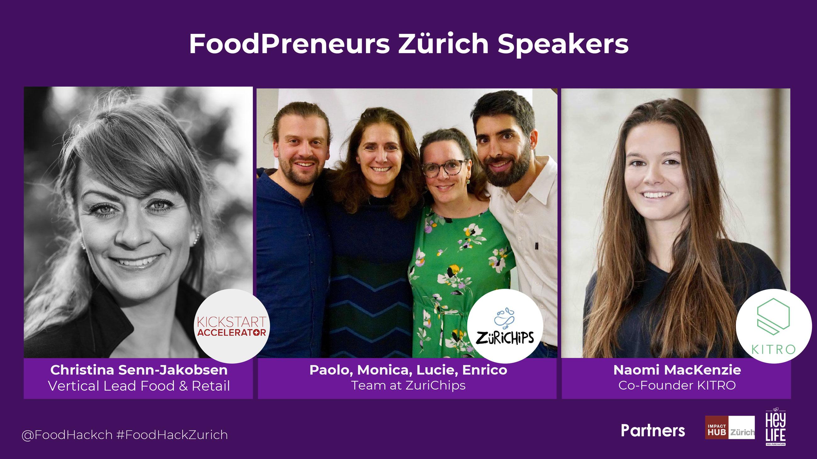 FoodStartups: Kickstart Accelerator, ZuriChips, Kitro