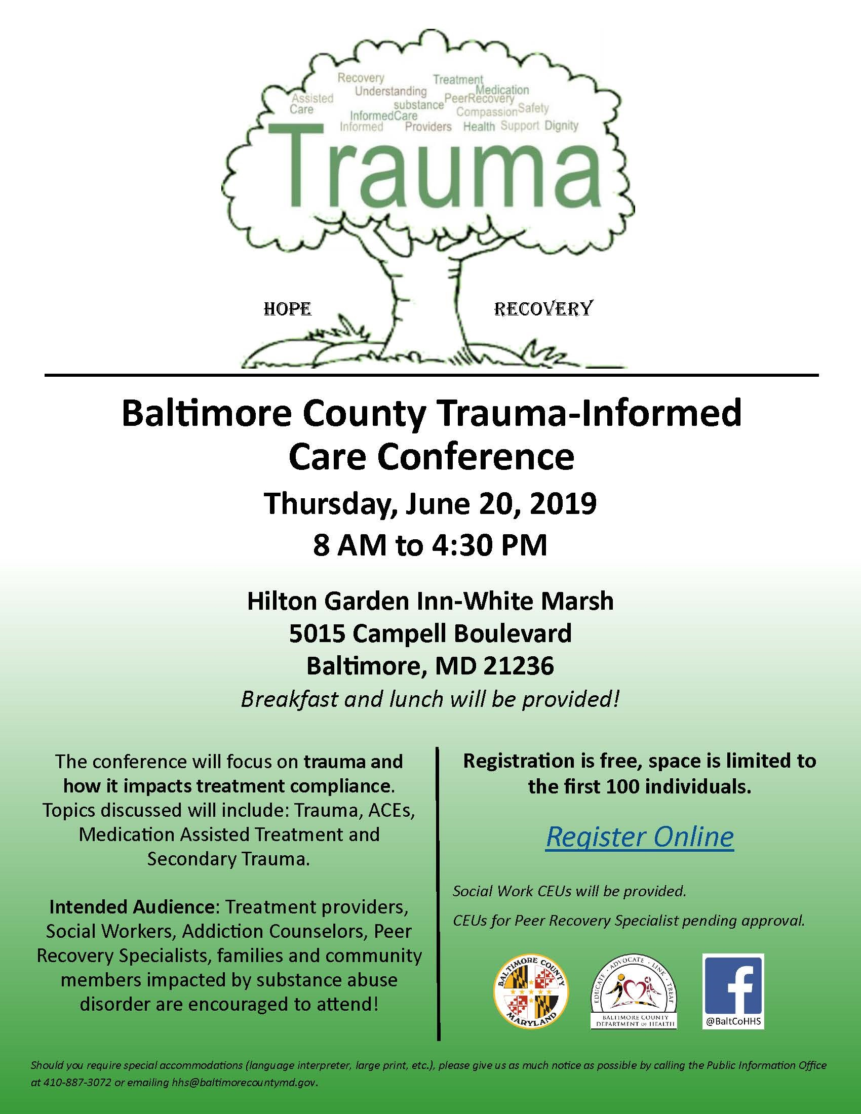 Trauma Informed Care Tree