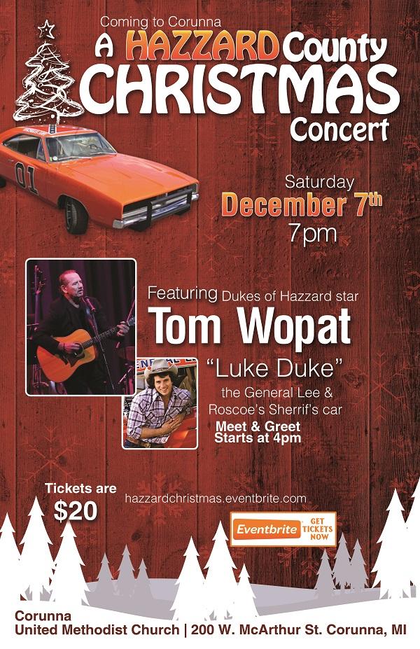 A Hazzard County Christmas Concert Dec 7th, 2019